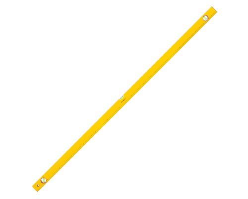 Уровень РемоКолор Yellow 1500 мм, алюминиевый коробчатый корпус, 3 акриловых глазка, линейка