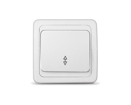 Выключатель UNIVersal проходной для скрытой проводки, одноклавишный, 10А белый