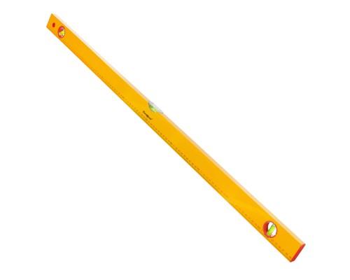 Уровень РемоКолор Yellow 1000 мм, алюминиевый коробчатый корпус, 3 акриловых глазка, линейка