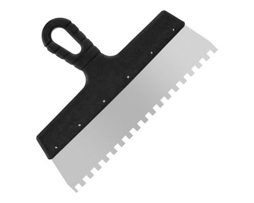 Зубчатый шпатель РемоКолор Мастер 300 мм, зуб 8х8 мм
