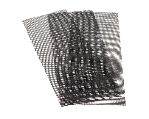 Сетка абразивная РемоКолор карбид кремния, на стекловолоконной сеточной основе, Р220, 115х280мм (3 шт./уп.)