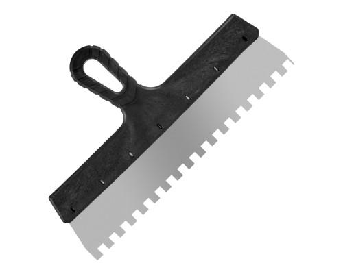 Зубчатый шпатель РемоКолор Мастер 350 мм, зуб 10х10 мм