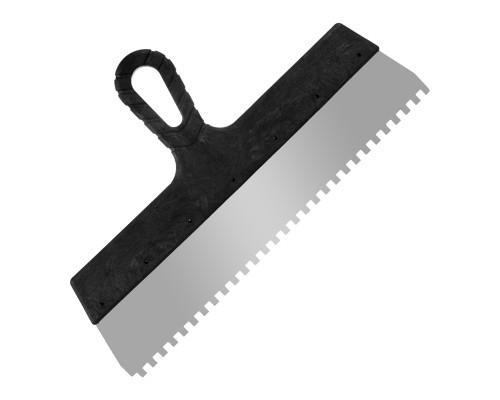 Зубчатый шпатель РемоКолор 350 мм, зуб 6х6 мм
