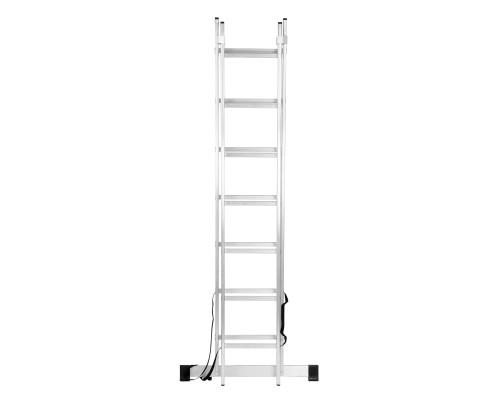 Лестница 2-секционная алюминиевая РемоКолор 7 ступеней