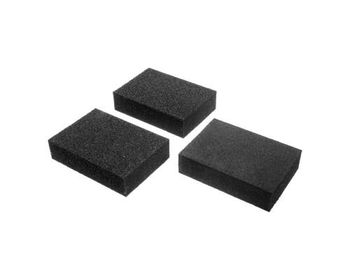 Набор губок РемоКолор оксид алюминия, Р60/80, Р60/100, Р80/120, 100х70х25 мм (3 шт./уп.)