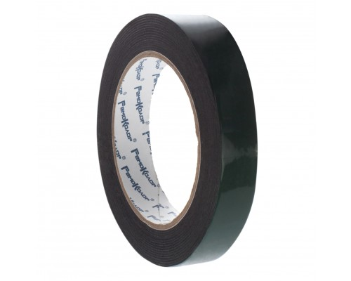 Лента клейкая РемоКолор монтажная, на черной основе, двухсторонняя, вспененная, 19 мм х 5 м