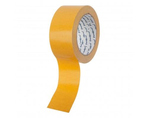Лента клейкая РемоКолор двухсторонняя, полипропиленовая основа, клей - синтетический каучук, 48 мм х 25 м