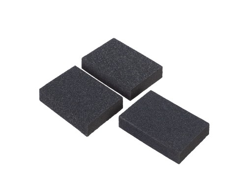 Набор губок РемоКолор карбид кремния, Р60/80, Р60/100, Р80/120, 100х70х25 мм (3 шт./уп.)