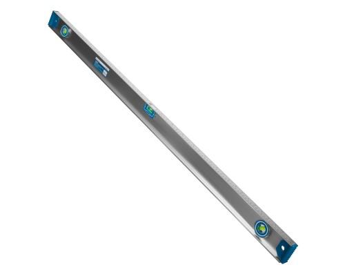 Уровень с магнитной лентой РемоКолор 1200 мм, двутавровый алюминиевый профиль, 2 глазка+1 поворотный на 360°, линейка