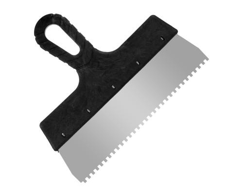 Зубчатый шпатель РемоКолор 250 мм, зуб 4х4 мм