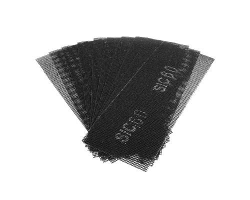Сетка абразивная РемоКолор карбид кремния, на стекловолоконной сеточной основе, Р60, 105х280мм (10 шт./уп.)