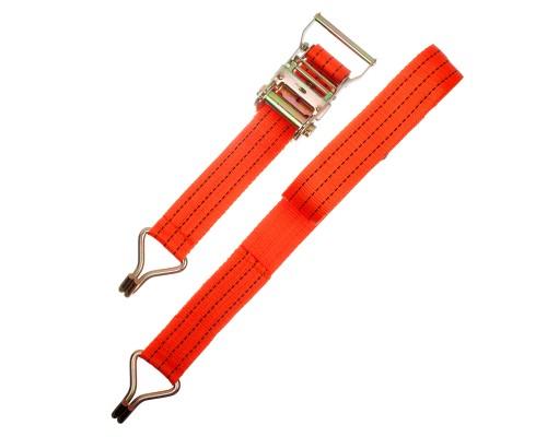 Ремень крепления груза РемоКолор с крюками, с храповым механизмом 135 мм, 0,05 х 8 м