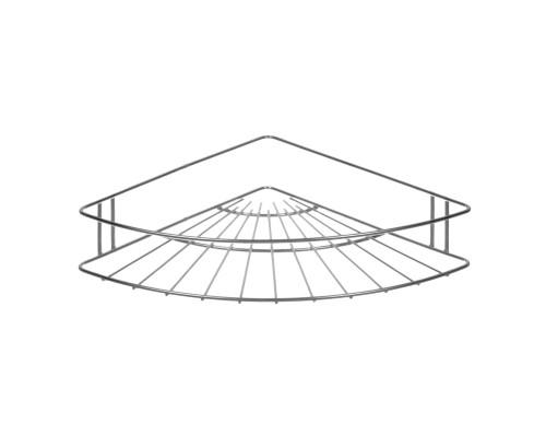 Полка в ванную РемоКолор Classic угловая, 1 ярус, хром