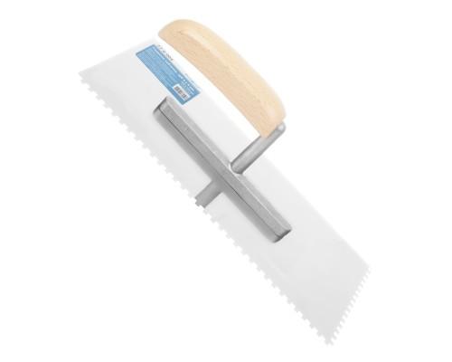 Гладилка зубчатая РемоКолор 270x125 мм, зуб 4х4 мм