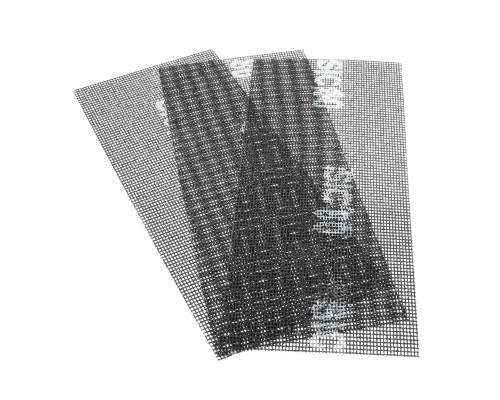 Сетка абразивная РемоКолор карбид кремния, на стекловолоконной сеточной основе, Р80, 115х280мм (3 шт./уп.)