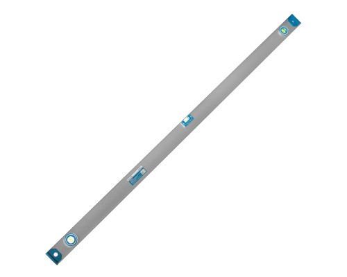 Уровень с магнитной лентой РемоКолор 1500 мм, двутавровый алюминиевый профиль, 2 глазка+1 поворотный на 360°, линейка