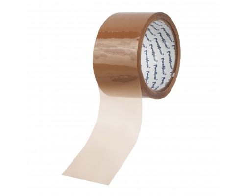 Лента клейкая РемоКолор упаковочная, коричневая, клей - акрил, 48 мм х 50 м, толщина 40 мкм