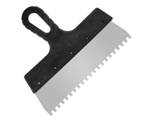 Зубчатый шпатель РемоКолор 250 мм, зуб 6х6 мм