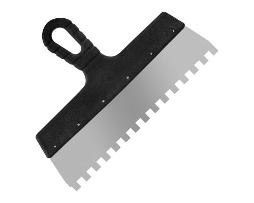 Зубчатый шпатель РемоКолор Мастер 300 мм, зуб 10х10 мм