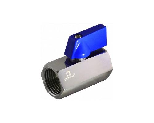"""Кран шаровый CTM Стандарт хром, для сантехнических приборов, мини, внутренняя резьба, 1/2"""""""