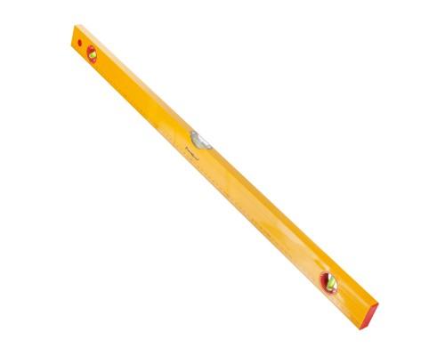 Уровень РемоКолор Yellow 800 мм, алюминиевый коробчатый корпус, 3 акриловых глазка, линейка