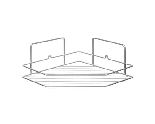 Полка в ванную РемоКолор угловая трапеция, 1 ярус, хром