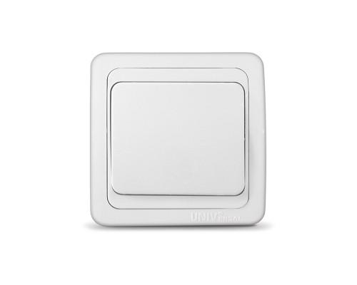 Выключатель UNIVersal для скрытой проводки, одноклавишный, 10А белый