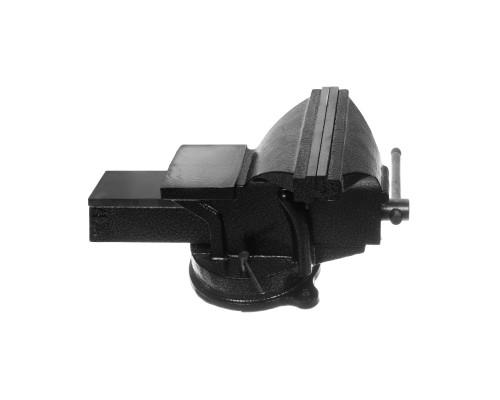 Тиски РемоКолор слесарные, поворотные, с наковальней, 125 мм