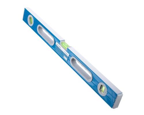 Уровень РемоКолор 600 мм, усиленный алюминиевый профиль, 2 фрезерованные грани, 2 ручки, 2 глазка+поворотный на 360°