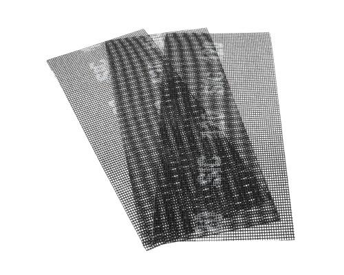 Сетка абразивная РемоКолор карбид кремния, на стекловолоконной сеточной основе, Р120, 115х280мм (3 шт./уп.)