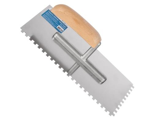 Гладилка зубчатая РемоКолор 270x125 мм, зуб 6х6 мм